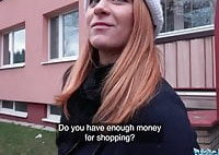Public Agent Russian redhead takes cash for sex