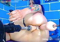 double fuck machine squirt