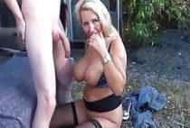 redhead guy with very big cock knows how to fuck busty milf