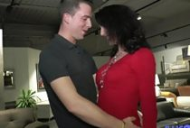 Mature Lyna fucked in front of her old boss
