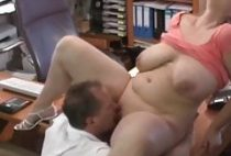 very busty horny milf likes interview with her new boss