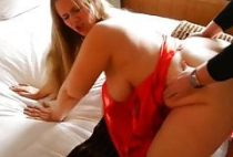 stocky wife with very big boobs loves her boss on vacation